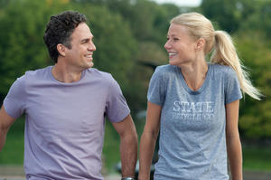 "Mark Ruffalo and Gwyneth Paltrow in ""Thanks For Sharing."""
