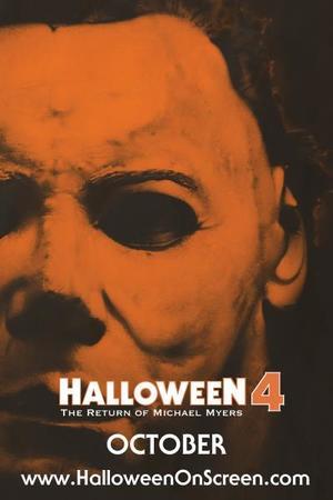 "Poster art for ""Halloween 4: The Return of Michael Myers."""