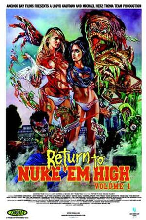"Poster art for ""Return to Nuke 'Em High: Volume 1."""
