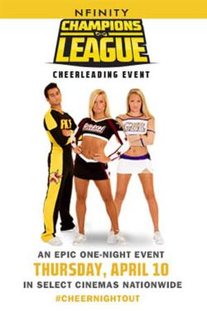 "Poster art for ""Champions League Cheerleading Event."""