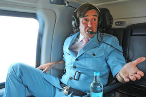 "Does Steve Coogan rock this blue suit in ""Alan Partridge""?"