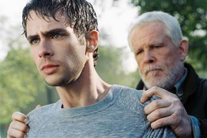 "Scott Mechlowicz and Nick Nolte in ""Peaceful Warrior."""
