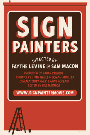 "Poster art for ""Sign Painters."""