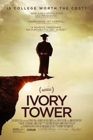 """Poster art for """"Ivory Tower."""""""
