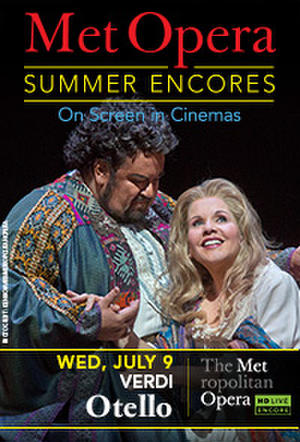 "Poster art for ""Met Summer Encore - Otello."""