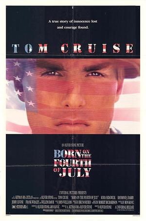 "Poster art for ""Born on the Fourth of July."""