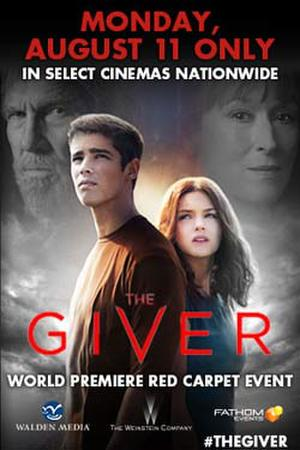 """Poster art for """"The Giver: World Premiere Red Carpet Event (Live)."""""""