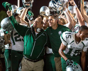"Michael Chiklis and Jim Caviezel in ""When the Game Stands Tall."""