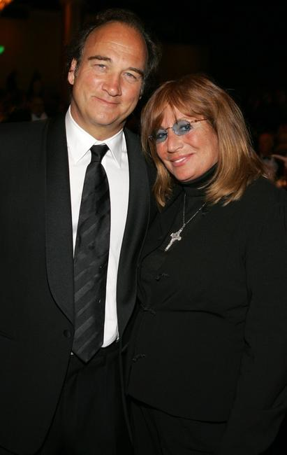 Penny Marshall and James Belush at the Beverly Hilton Hotel for the inaugural of