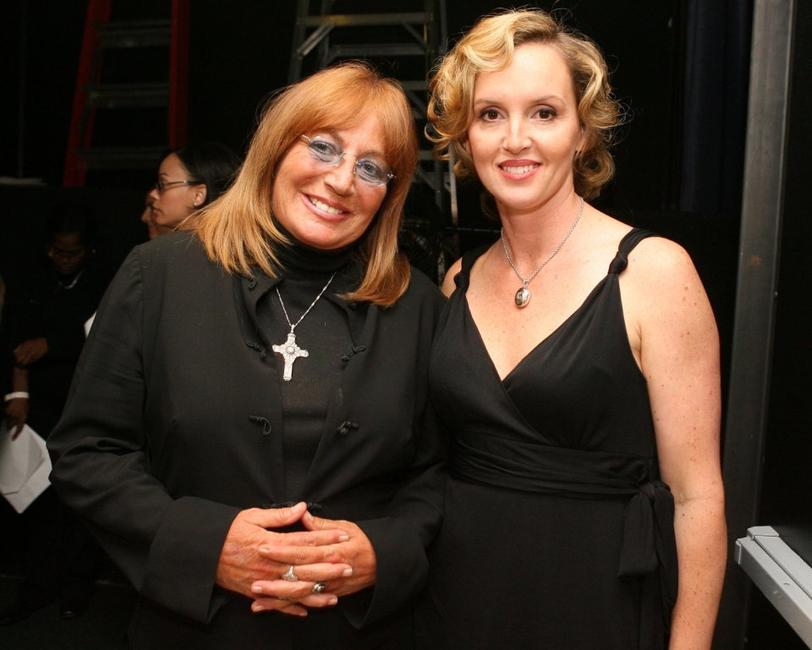 Penny Marshall and Julie Croteau at the Beverly Hilton Hotel for the inaugural of