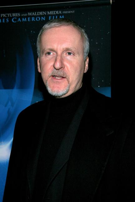 James Cameron at the premiere of his IMAX film