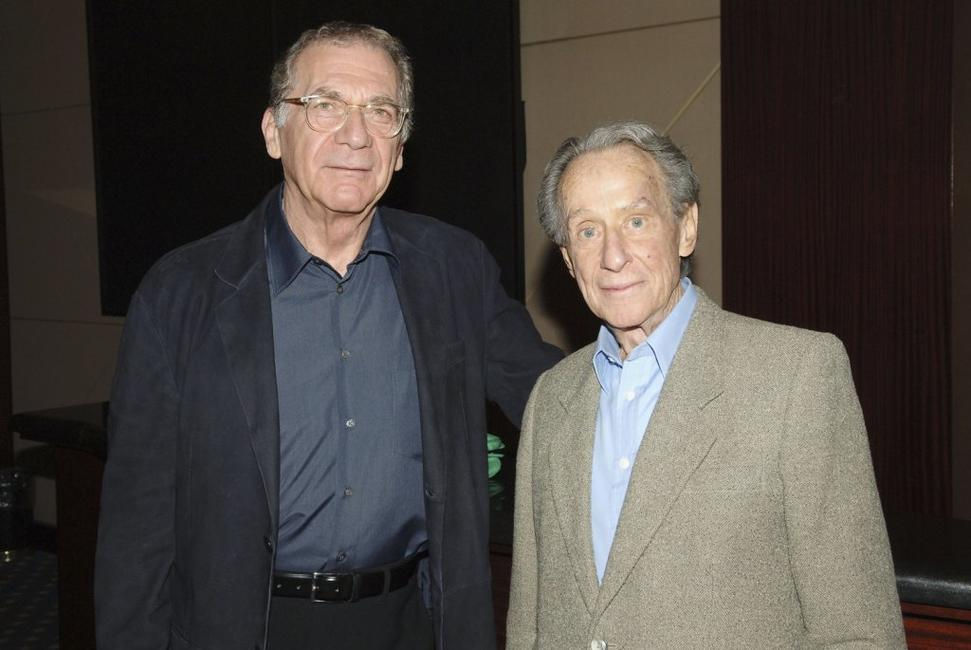 Sydney Pollack and Arthur Penn at the premiere of