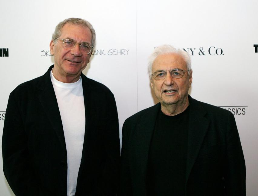 Sydney Pollack and Frank Gehry at the Los Angeles premiere of
