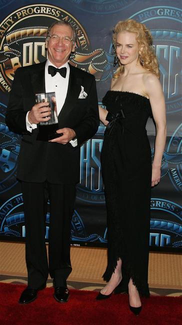 Sydney Pollack and Nicole Kidman at the American Society of Cinematographers 20th Annual Outstanding Achievement Awards.
