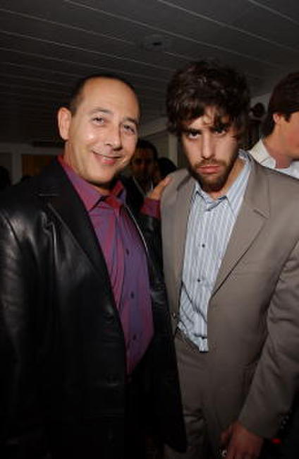 Paul Reubens and Adam Goldberg at the 2002 IFC Entertainment Party.