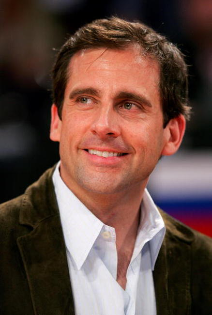 Steve Carell watches the 2007 NBA All Star Game on February 18, 2007 at Thomas & Mack Center in Las Vegas, Nevada.