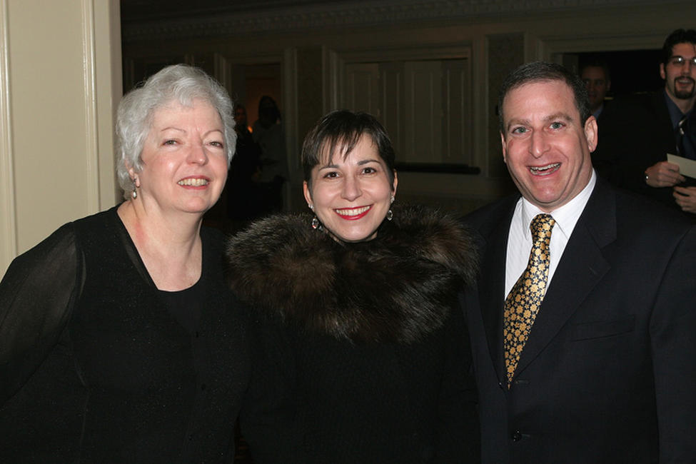 Thelma Schoonmaker, Amy Heller and Dennis Doros at the New York Film Critics Dinner in New York.