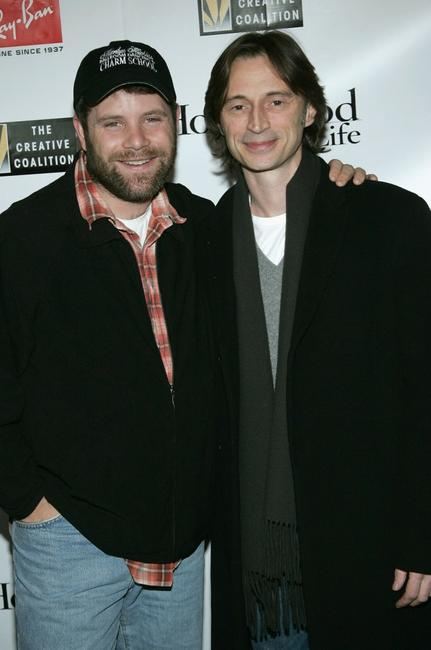 Robert Carlyle and Sean Astin at the 2005 Ray Ban Visionary Award Hollywood Life After Party at the VW Lounge during the 2005 Sundance Film Festival.