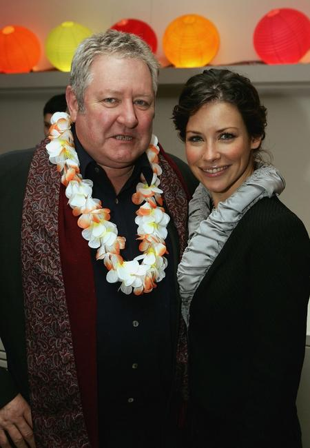 John Wood and Evangeline Lilly at the media party of