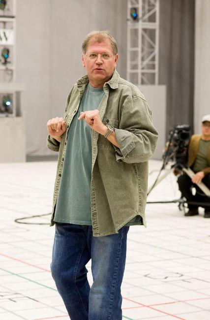 Robert Zemeckis on the set of