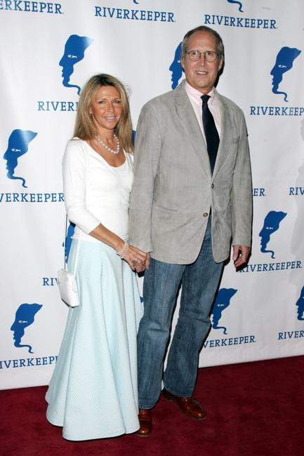 Chevy Chase and his wife Jayni Luke at the 11th annual Riverkeeper Benefit gala honoring the Hearst Corporation.