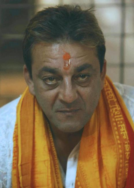 Sanjay Dutt at the religious rituals at Hindu temple in Mumbai.