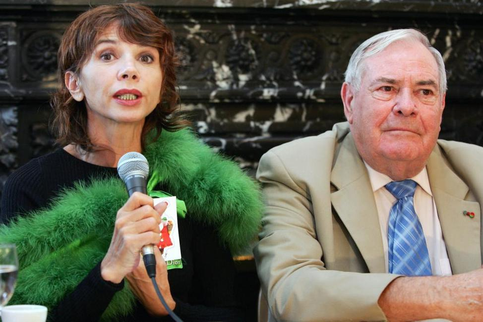 Victoria Abril and Julien Laupretre at the start of a campaign by French charity association