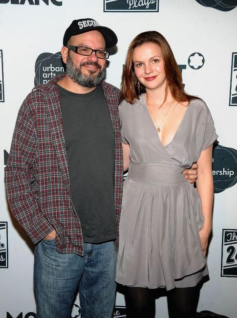 David Cross and Amber Tamblyn at the after party of the 9th Annual 24 Hour Plays on Broadway.