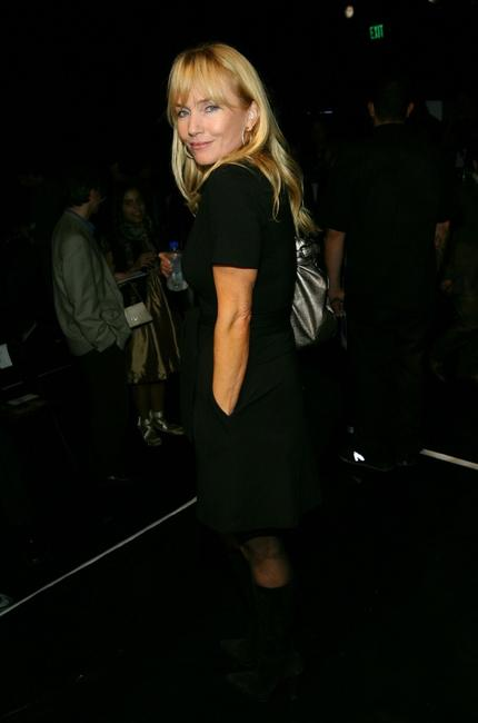 Rebecca De Mornay at the Mercedes Benz Fashion Week.