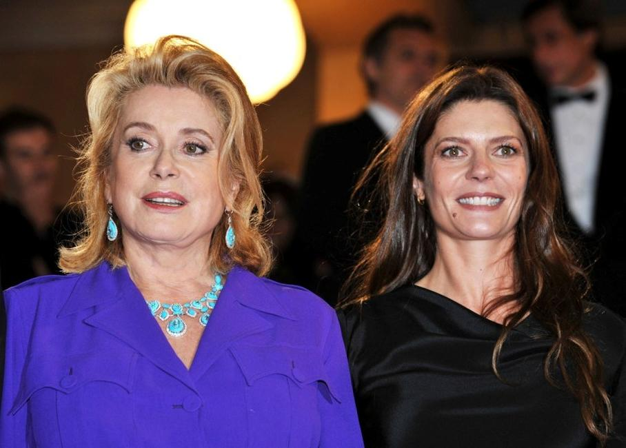 Catherine Deneuve and her daughter Chiara Mastroianniat at the premiere of