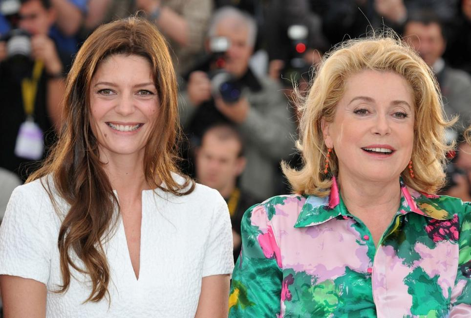 Chiara Mastroianni and Catherine Deneuve at the photocall of