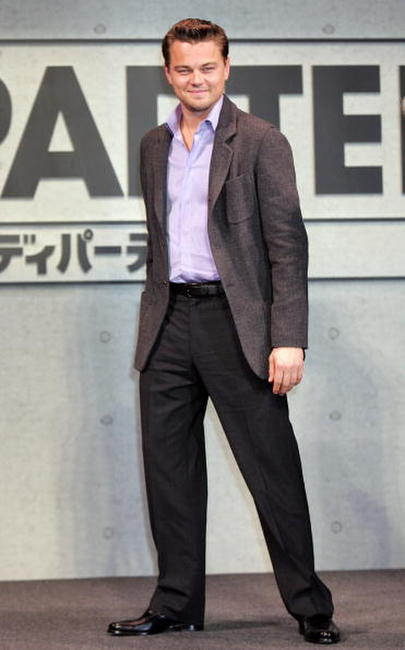 Leonardo DiCaprio at a photocall in Tokyo for