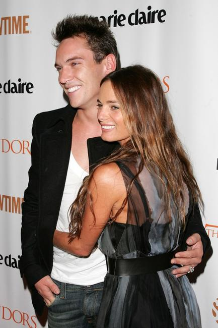 Gabrielle Anwar and Jonathan Rhys Meyers at the New York premiere of Showtime's