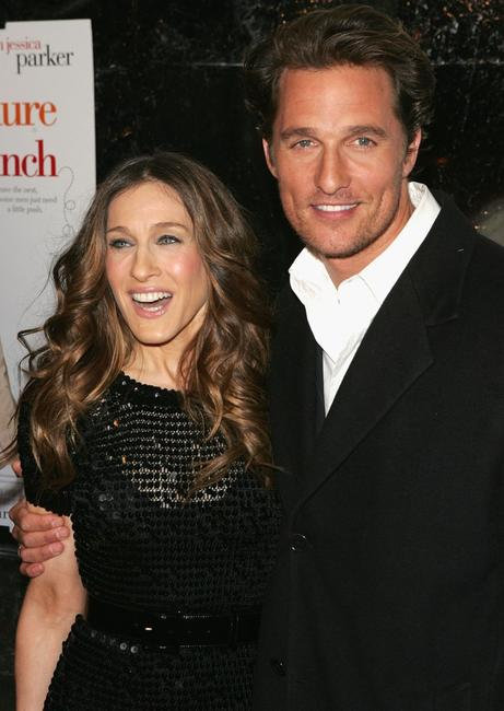 Matthew McConaughey and Jessica Parker at the premiere of