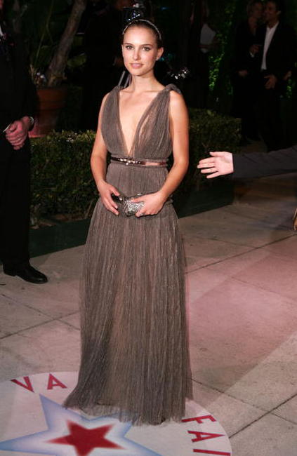 Natalie Portman at the Vanity Fair Oscar Party in West Hollywood.