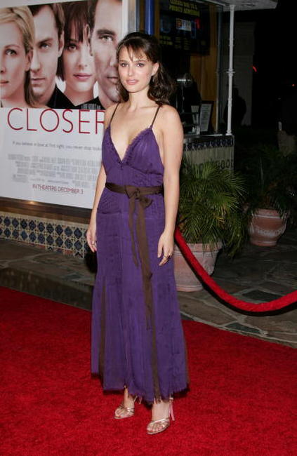 "Natalie Portman at the premiere of ""Closer"" in Los Angeles."