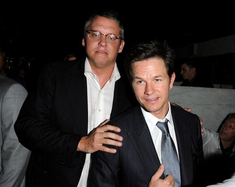 Adam McKay and Mark Wahlberg at the after party of the New York premiere of
