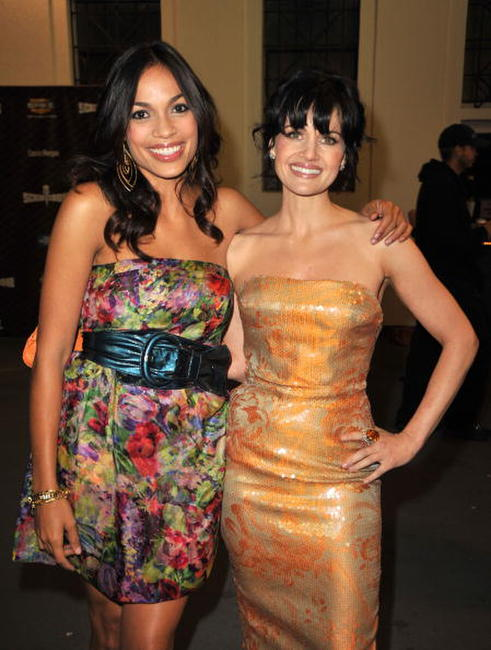 Rosario Dawson and Carla Gugino at the Spike TV's 2008 Scream awards.