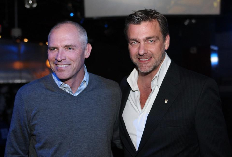 Joe Drake and Ray Stevenson at the after party of the Special Screening of
