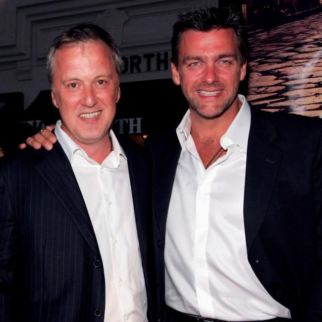 Bruno Heller and Ray Stevenson at the premiere of