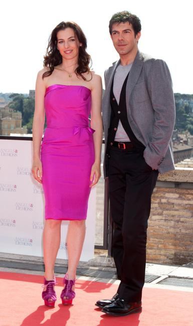 Ayelet Zurer and Pierfrancesco Favino at the photocall of