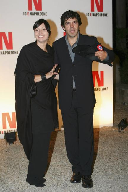 Anna and Pierfrancesco Favino at the party to promote