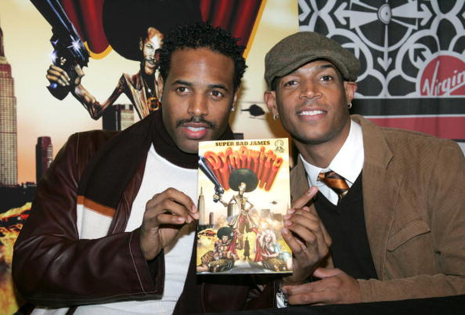 Shawn Wayans and Marlon Wayans at the promotion of