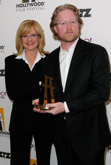 Bonnie Hunt and Andrew Stanton at the Hollywood Film Festival's Gala Ceremony.
