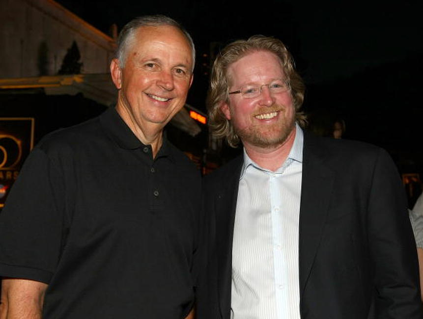 Dick Cook and Andrew Stanton at the world premiere of