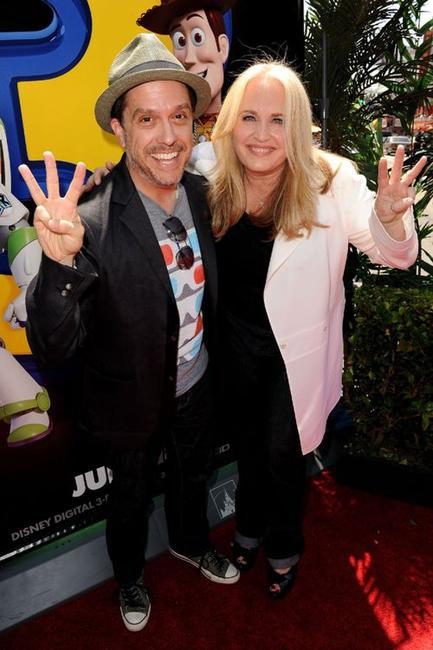 Lee Unkrich and producer Darla K. Anderson at the premiere of