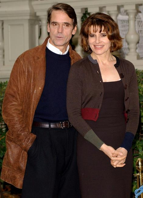 Fanny Ardant and Jeremy Irons at the photo call for the promotion of the new movie