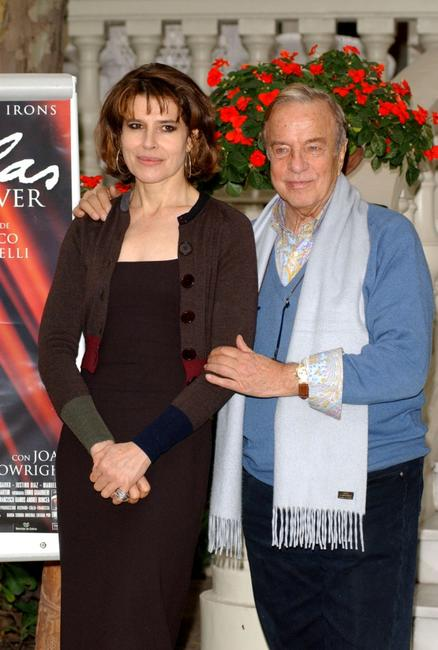 Fanny Ardant and Franco Zeffirelli at the photo call for the promotion of the new movie