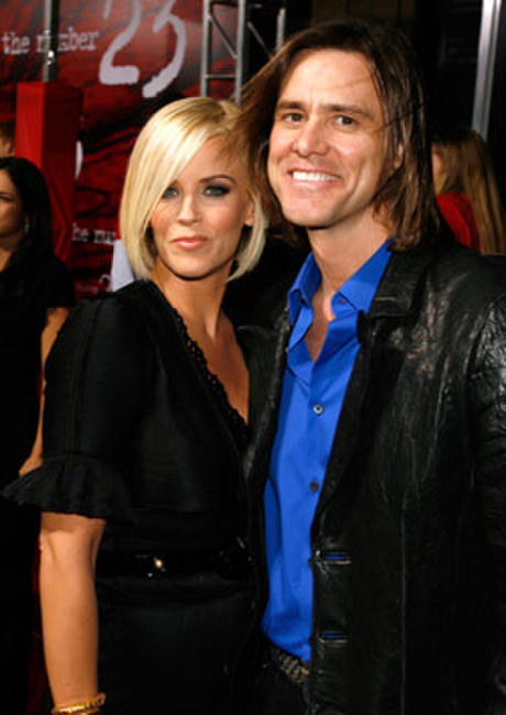 Jenny McCarthy and Jim Carrey at the L.A. premiere of