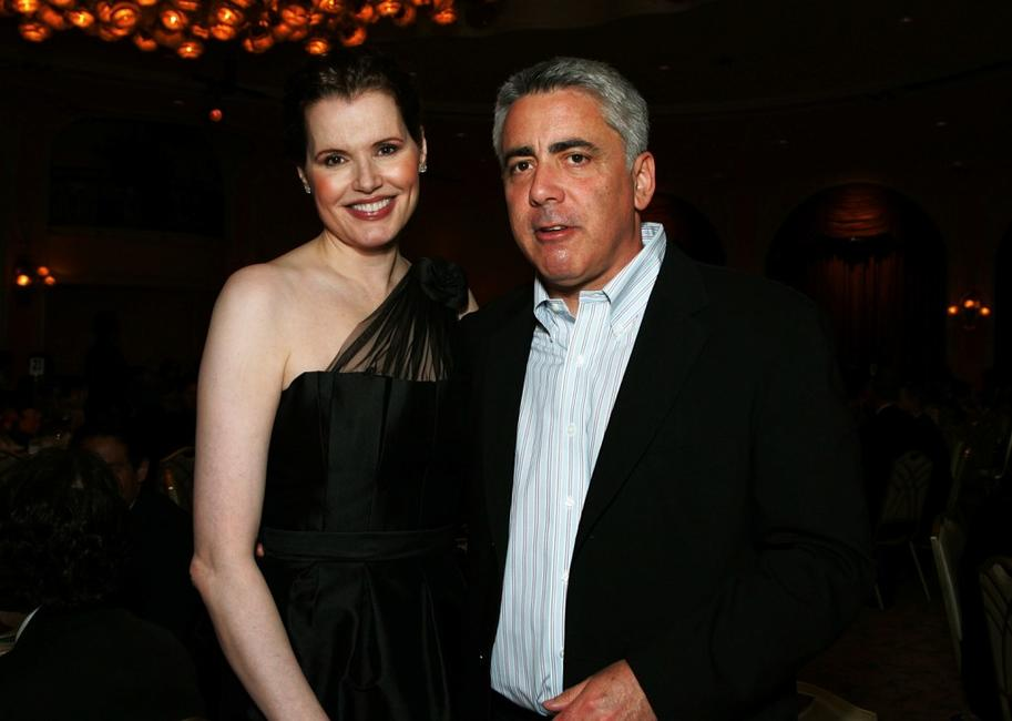 Adam Arkin and Geena Davis at the celebration honoring Geena Davis as this year's Hollywood Hero by USA Today for the See Jane Program at the Beverly Hills Hotel.